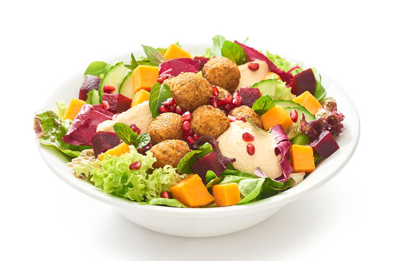dean david salat falafel tahini